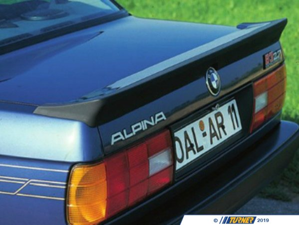 T#399559 - 4100161 - Alpina Rear Spoiler - Looking to add a subtle yet distinctive visual touch to your BMW? Look no further. This is a genuine Alpina spoiler for your BMW, far superior to fiberglass reproductions.Alpina is a legendary name in BMW performance, and now you can add Alpina performance parts to your BMW to create a distinctive style and impressive performance.Fits the Following BMWs:E30 - Alpina -
