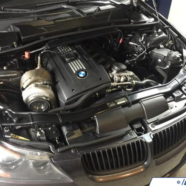 Bmw S85 Twin Turbo Kit: DocRace N54 Top Mount Single Turbo Kit