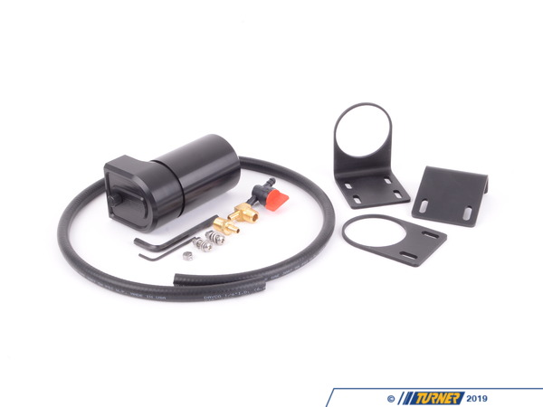 T#398782 - 022798tms01-05KT - Turner Baffled Oil Catch Can Kit - 6oz - When we designed this catch we wanted to have the most function options available, the best separation method, and the easiest to service. The Turner engineered catch cans offer a pre-setup design based ion desired flow direction, however this does not limit you to this flow. The inner baffle orientation can be easily adjusted to flow in both directions in case you decide to move this catch can to a different vehicle. A4 chamber system baffle system inside the catch can wasengineeredto create multiple changes in the direction of airflow within the separator to cause oil droplets to fall out of suspension before exiting the catch can. Having a closed /recirculated design reduces oil ingestion and promotescleaneremissions and odor-less operation.Our catch can was also designed with the idea that the cans fill level can easily be checked with a top mounted dipstick and an optional use bottom drain hole. The drain system comes completewith a valve and hose to be mounted at a lower area of the vehicle so when you're doing an oil change you can drain the catch can.*Click here for instructions*Features:6061-T6 billet machined body, anodized black for lasting protection and appearanceStrategically positioned 4chamberbaffle system maximizes oil / air separationKnurled and black anodized oil dipstick makesinspecting oilvolume of reservoir clean and simpleSealed with a pre-installed viton O-RingIncludes 2.5mm allen key to remove baffle plates for cleaningEngineered to create multiple changes in the direction of airflow within the separator to cause oil droplets to fall out of suspension before exiting the catch canClosed /recirculated design reduces oil ingestion and promotescleaneremissions and odor-less operationOptional use drain hole - drain kit included!Universal mounting kit - Turner Motorsport - BMW MINI