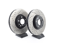 Cross-Drilled & Slotted Brake Rotors - Front - E70 X5 4.8i 35d, E71 X6 35 (pair)