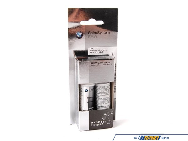T#10225 - 51910419745 - Genuine BMW Trim Paint Stick Titan Silver Met 51910419745 - Genuine BMW Paint Stick Titan Silver Met. - 2X12Ml  354 - Genuine BMW -