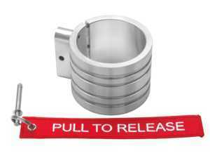 H3R Performance Band Clamp For 250 Series Fire Extinguishers - Brushed Aluminum