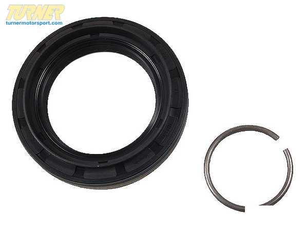 T#7917 - 33107510289 - Differential Rear Axle Shaft Seal with Lock Ring - E46 M3, E9x M3, E39 N5 and more - Victor Reinz - BMW