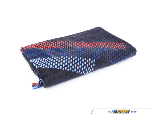 T#403934 - 80232446462 - BMW Motorsport Towel - Add some BMW flair to your next day at the beach with this plush cotton beach towel. Navy blue with Motorsport stripes. - Genuine BMW - BMW