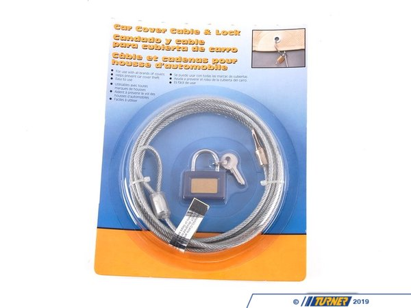 T#5617 - 82111467081 - Car Cover Locking Cable  - Keep your BMW and your BMW car cover secure with this Genuine BMW car cover cable lock.   Thread the cable through the cover eyelets and secure with the included lock to keep your car cover in place in high winds.   Additionally this will help to keep prying eyes from looking under a cover.    - Genuine BMW - BMW