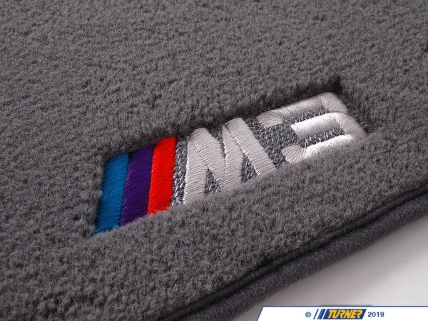T#24806 - 82110136309 - Genuine BMW Floor Mats M3 Cabrio Grey - 82110136309 - E46 M3 - Genuine BMW -