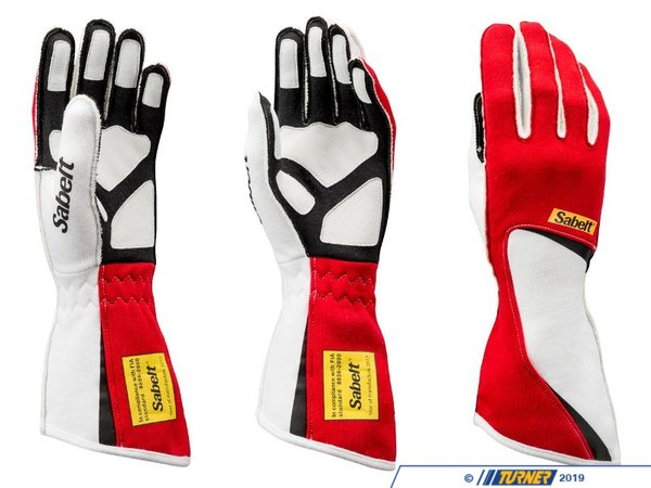 T#552915 - SATG7R - Sabelt Diamond Racing Glove - Red - A proper pair of racing gloves can make all the difference on your next track day or autocross event. Aside from the obvious protection they afford in an unfortunate situation, the grip and increase in control is a welcomed addition when you're wrestling the car around a complex corner or cone section.The Diamond TG-7 glove is stylish option with up to the minute design and is easily customized withsponsorship or team logos. External stitching on the palm and finger give unrivaled comfort for those long stints and the elasticated wrist keeps them securely in place without the added bulk of velcro or straps. Palm and finger grips give excellent tactile control while easing the fatigue that can be felt from firmly holding the steering wheel for an extended period of time.Sabelt is a global leader in development and manufacture of original equipment car seats, seat belts, and motorsport products for racing activities. Through advanced and extensive crash test simulation, they are able to offer products that are proven to achieve the highest level of performance and safety. - Sabelt - BMW