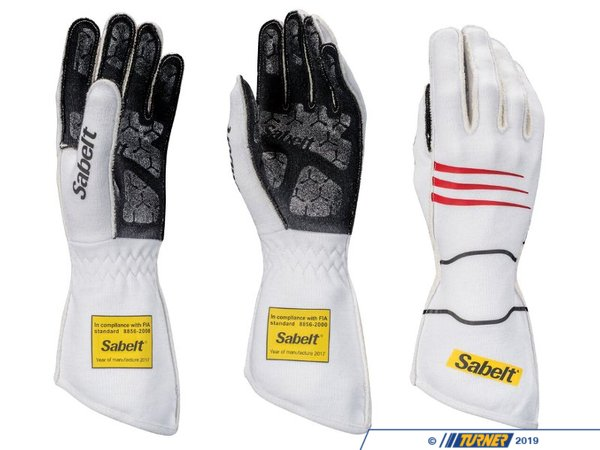 Sabelt Sabelt Hero Racing Gloves - White SATG9W