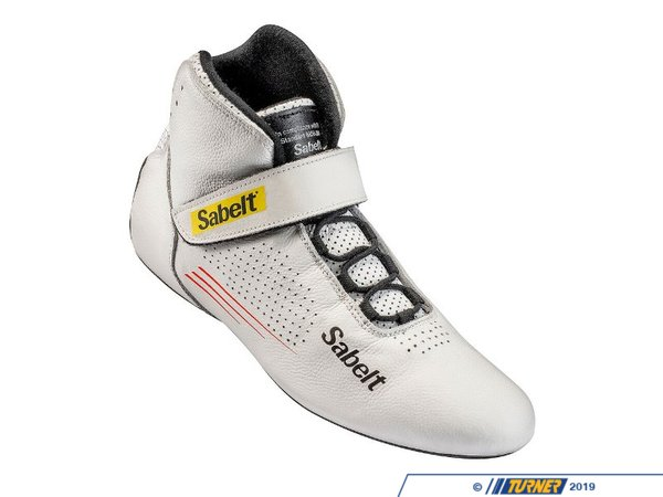 T#552900 - SATB9WH - Sabelt Hero Racing Shoe - White - Sabelt is a global leader in development and manufacture of original equipment car seats, seat belts, and motorsport products for racing activities. Through advanced and extensive crash test simulation, they are able to offer products that are proven to achieve the highest level of performance and safety.The Hero TB-9 racing shoe is a modern take on a classic design. With a full leather upper sole with perforations for added ventilation, this shoe is made to be worn for a long period of time, such as endurance racing. The sole of these shoes are specially designed to allow maximum dexterity and pedal feel, whilethe slim profile allows the driver to move across the pedals unhindered. An FIA 8856-2000Homolgationallows these shoes to be used in motorsport. - Sabelt - BMW