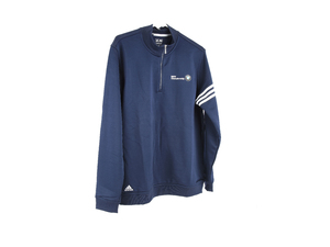 Navy Blue Adidas Climalite 3-Stripe Pullover - Large