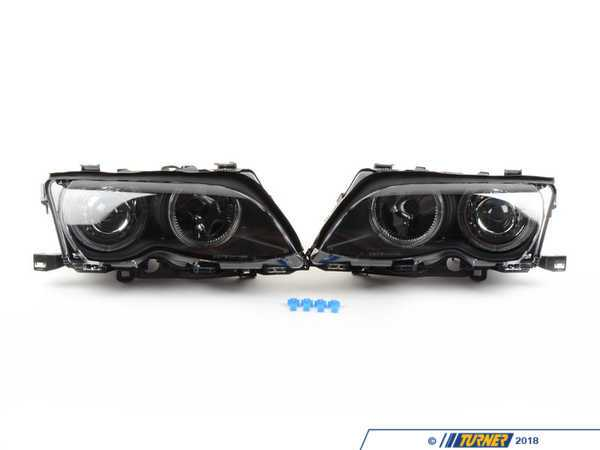 T#380036 - 4441136PXNDAM2 - Depo Smoked Blackout Angel Eye Projection Headlights - E46 Sedan (09/2001+) - If you are looking to upgrade the styling of your E46 BMW, the easiest way is to upgrade the headlights. These headlights feature European projectors for improved lighting, blacked out housings, integrated angel eyes for an aggressive look, and all needed wiring for installation.Features:European ProjectorsSmoked LensesBlacked out housingsIntegrated angel eyesFits the following BMWs:09/2001-2005E46 BMWsedans with halogen headlights*These are intended for off road or show use only. These are not DOT approved.* - Depo - BMW
