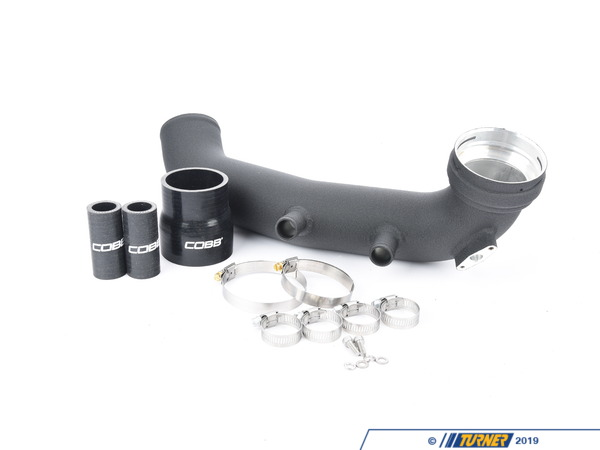"T#379069 - 7B1210 - COBB Tuning Intercooler Charge Pipe - E82/E9X 135/335 N54 - All of the tuning in the world is only as good as the weakest link.More boost in your 135/335 is great! But you will soon learn that some of the factory hardware is not up to the task of handling that extra pressure. One of the first things to fail and cause a boost leak are the factory boost diverter valves. This allows boost to ""leak"" out of the intake stream and a loss of power from the engine. Cobb has produced this aluminum 3"" chargepipe upgrade. This aluminum chargepipe is also much more robust than the stock plastic factory pipe and the connection to the throttle body is stronger, eliminating another failure point ofthe stock pipe.This is a complete kit that includes everything you need -powdercoat chargepipesilicone hose connection to intercooler pipingall hardware and hose clamps with instructions - CobbTuning - BMW"