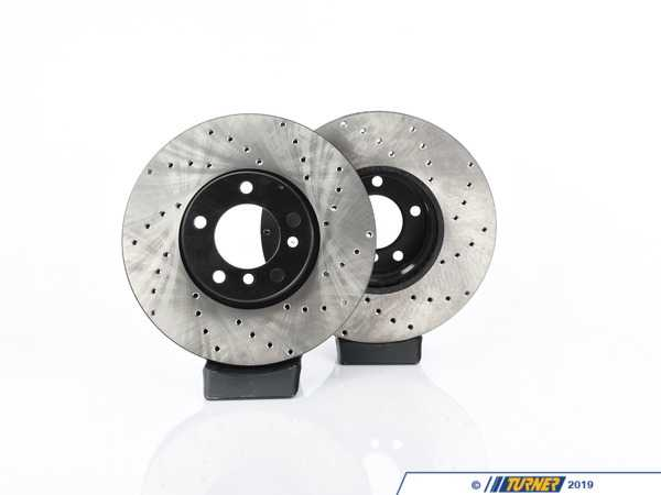 StopTech Cross-Drilled Brake Rotors - Front - E39 530i, 540i 03/00+ (pair) 34116767059CD