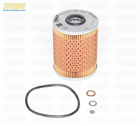 T#4405 - 11427833769ML - Mahle OEM Oil Filter for E46 M3, MZ3, MZ4 (S54 Engines) - This is the replacement OEM oil filter kit for the S54 engine, as used in the E46 M3, Z4 M Roadster and M Coupe, as well as the 2001-2002 MZ3 M Roadster/Coupe (with S54 engine). This is the complete oil filter kit - filter, large o-ring for filter housing cover, small o-ring for bolt seal, flat washer for bolt, and copper seal ring for the drain bolt. It's everything you would need to complete an oil change - minus the Castrol 10W60 oil of course, which we sell at a great price. This kit is manufactured by Mahle - the original supplier to BMW for the 11427833769 BMW filter (factory filters come with the Mahle part number OX 187 printed on the cap).Why Mahle over Mann? In the past we have sold a few different oil filters for the E46 M3 and S54 engines. But Mahle is the true OEM supplier for this part number. It fits perfectly and is the exact replacement part at nearly the same price as the slightly different Mann filter (and less than the factory BMW filter). For more detail, click here.This filter fits the following BMWs:2001-2006 E46 M32001-2002 MZ3 - M Roadster & M Coupe (S54)2006-2008 MZ4 - M Roadster & M Coupe - Mahle - BMW