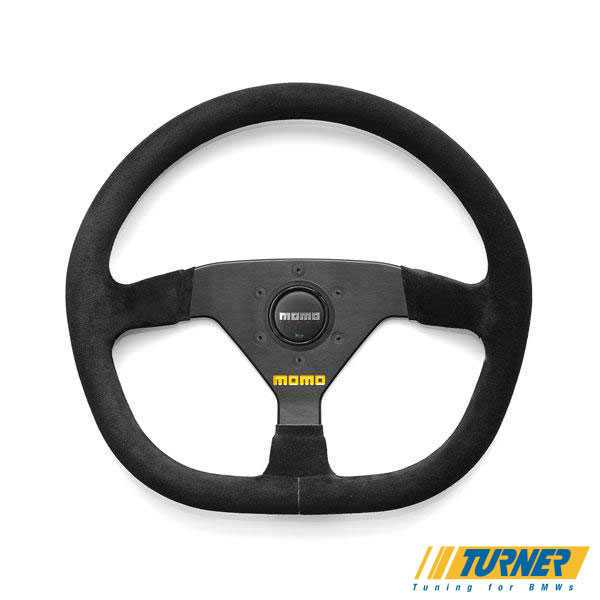 T#1863 - TMS1863 - MOMO Mod.88 Steering Wheel - Black - 350mm - MOMO Mod.88 Steering Wheel for track/competition use. An evolution to the hugely popular Mod 78 wheel. This wheel features a flat bottom for more leg clearance and better grip. It has a slightly oblong 350mm diameter rim with black suede covering. Black anodized aluminum center. This is about as serious a race wheel as you can get - no frills or decorations. Also available in an aggressive 320mm diameter (special order).Requires a wheel hub adapter, choose one below. - MOMO - BMW
