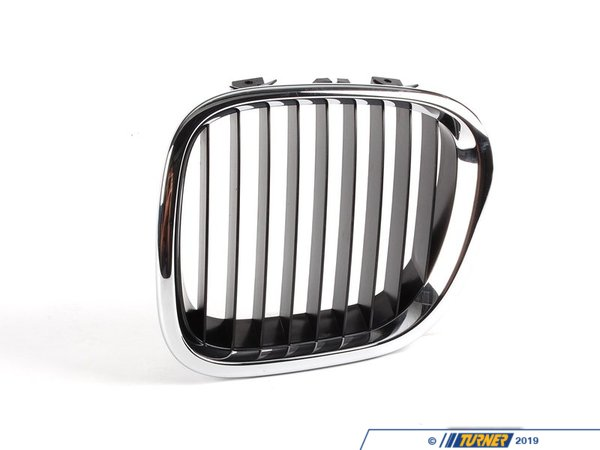 T#8805 - 51138397503 - Kidney Grill with Black Slats - Left - Z3 1997-2002 - This Genuine BMW front left kidney grill for Z3 has the stock chrome trim with black slats. It is a direct snap in replacement for the stock grill. This item fits the following BMWs:1997-2002  Z3  BMW Z3 1.9 Z3 2.3 Z3 2.5i Z3 2.8 Z3 3.0i M Roadster M Coupe - Genuine BMW - BMW