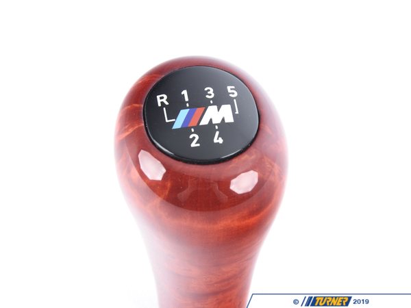 T#52724 - 25112423689 - Genuine BMW Shift Knob, Wood, M Plaque, - 25112423689 - Genuine BMW -