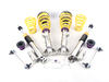 T#361433 - 35220034 - KW Coilover Kit - Variant 3 (V3) - E85/E86 Z4 m - Adjustable Rebound & Compression DampingWant full control? The KW V3 gives you multiple settings for both rebound and compression. You have full access over ride comfort and handling to dial in that perfect setup. Race teams rely on adjustments to get that perfect lap time and having shock controls at your fingertips is key. KW V3 features -Separate adjustments for compression (14 positions) and rebound (infinite settings),Stiffer springs over stock for less bodyroll than the standard suspension,Stainless steel strut/shock bodies and composite spring perches for superior corrossion resistance,Individually height-adjustable - Front = 10-40mm lowering; Rear = 5-35mm lowering,TUV approved lowering range and operation,Expert engineering and design for ease-of-use and long durability,Whether you track the car often or only use it for backroad carving the V3 will give you the tools to set up an ideal handling condition. You can crank it up for smooth and fast surfaces or soften it for city or rough roads. Since each shock is 2-way adjustable you can alter the front-rear balance to account for brake dive or squat during power application coming out of the corner. You are in total control!Coil over suspensions are better engineered suspension options compared to a standard shock + spring package. Since the springs and shocks in a coil over are designed by a team of engineers to work together, there is much better suspension travel and more precisely tuned specifications for spring and shock rates. Using separate shock and spring specs may result in premature coil bind or shock bottoming. And most coil over kits offer more features than the traditional packages. Coil overs are also more useful when larger wheels/tires are used because you can precisely set the ride heights to clear the new tires.Fitment Note:Wheel spacers may be required depending on wheel/tire sizing and ride height setting.Lifetime warranty!FREE FEDEX GROUND SHIPPING!FREE FEDEX GROUND shipping within the 48 contiguous states.This item fits the following BMWs:2006-2008E85 BMWZ4 M Roadster M Coupe - KW Suspension - BMW