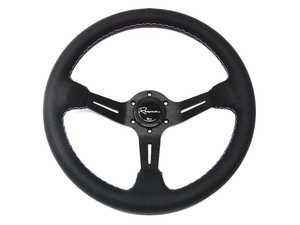 Renown Chicane Motorsport Steering Wheel - Genuine Perforated Leather w/ Tricolor Stitching