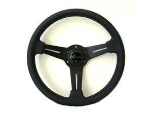 Renown Mille Motorsport Steering Wheel - Genuine Perforated Leather W/ Tricolor Stitching