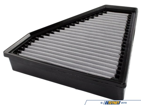 "T#2649 - 31-10131 - aFe ProDry S Air Filter - E90/E92 325i 328i 330i - Since 1999, aFe (Advanced FLOW Engineering) has been developing and manufacturinghigh qualityaccessories in their facility in Corona, California. Starting with air filters and intake systems, and now expanding into exhaust systems, suspension components, tuning modules, and more, aFe products are a great way to improve the performance of your BMW without altering its fundamentalcharacter.Owned by a BMW enthusiast,aFe poweris recognizedthe world over as a leader in quality performance products for your BMW.Constructed with 100% polyurethaneTwo layers of progressively finer mesh synthetic mediaWashable and reusable for multiple cleaning cyclesExcellent dust-holding capacity for a longer service cycle between cleaningsIntegrated urethane bump seal insures a tight, no leak sealOutflows stock paper filter for improved horsepower and torqueThis is a drop-in stock replacement aFe performance air filter that installs into your BMW's factory airbox. This particular filter fits the following BMWs:E90 E92 E93 3 series: 325i 325Xi 328i 328Xi 330i 330Xi 2006+E82 1 Series: 128i 2008+This version has an oil-free filter media for less maintenance. For the best flowing filter, with the best performance gain, we always recommend the standard aFe ""Pro5R "" filter (which has a blue pre-oiled filter media), but this oil-free filter flows only slightly less than the blue Pro5R style aFe filter, and requires no re-oiling after cleaning the filter. - AFE - BMW"