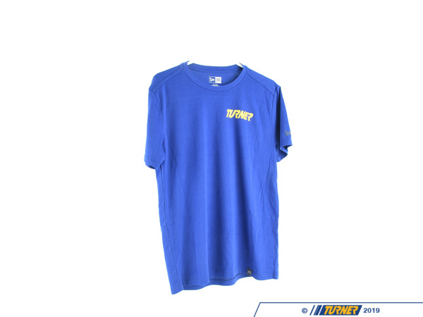 T#558139 - TMSTSHIRTBLU - Turner Motorsport Short Sleeve T-Shirt - Blue - Like what we do? We hope so. Purchase a Turner Motorsport T-Shirt today and add the Turner colors to your regular t-shirt rotation.These shirts are premium, New-Era tees - we wouldn't want you to be uncomfortable while sporting the Turner logo.Available inBlack,Grey, andBlue. Don't see your size available? Give us a call at1.800.280.6966- we have you covered. - Turner Motorsport - BMW MINI