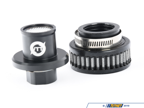 T#558084 - VTT-CRANK-BREATH - BMW Oil Cap Crankcase Breather - All BMW w/2 prong oil fill cap - VTT is happy to introduce the first and only available plug and play crankcase breather kits for ALL BMW applications that use the two-prong oil tab style oil fill caps. With this breather simply remove your oil cap, install the breather, and instantly free up horsepower, improve turbo draining, remove crankcase pressure, all while adding a cool look to your engine bay.Can be used by itself with the stock PCV system to eliminate crankcase pressure, or with any number of PCV setups for the ultimate in crankcase pressure relieveMade from 6061-T6 Aircraft aluminum anodized black for a long-lasting finish, 4 stainless steel baffles for complete oil control, a PTFE one way check ball, a high-quality filter, and clamp all work together to keep crankcase pressure where it belongs, out of your crankcase.This breather will fit:ALL BMW's with the two-prong style oil fill cap including but not limited to N54, N55, S55, S54NOTE: NOT ALL THE MODELS LISTED HAVE THE SAME HOOD CLEARANCE, WE CANNOT SAY WHICH MODELS WILL HAVE CLEARANCE ISSUES, AND WHICH WILL NOT AS WE HAVE NOT TEST IT ON ALL MODELS. IF YOU ARE ORDERING THE BREATHER FOR ANYTHING OTHER THAN AN N54 TEST CLOSE YOUR HOOD CAREFULLY TO ENSURE CLEARANCE IF IT DOES NOT FIT LET US KNOW, AND WE WILL GET YOU A REFUND ONCE THE BREATHER IS RETURNED.MODEL LIST OF REPORTED CLEARANCE ISSUES:N55 E/F 3 SERIES - Vargas Turbo Technologies - BMW