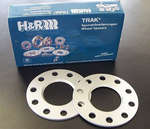 H&R H&R 5mm Wheel Spacers with Wheel Bolts - BMW E70 X5, E71 X6 (Pair) HWH-70-5-B
