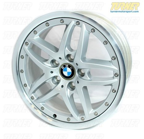 "T#3095 - 36116760821 - E46, Z4 Genuine BMW Double Spoke Style 71 17x8.0 Wheel - This genuine BMW double spoke style 71 wheel - 17"" x 8"" fits BMW E46 (except M3) and Z4 (except MZ4).   This wheel weighs 23 lbs. For more information on BMW wheels and wheel info in general, check out our Wheel Fitment Guide by clicking here.This wheel fits the following BMWs:1999-2005  E46 BMW 323i 323ci 325i 325ci 325xi 330i 330ci 330xi 2003-2008  E85 BMW Z4 2.5i Z4 3.0i Z4 3.0si - Genuine BMW - BMW"