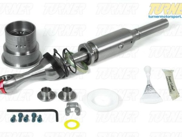"T#1978 - USSE90-1 - UUC EVO3 Short Shift Kit - E90 330i (2006 with 6 speed) - UUC's Ultimate Short shifter has been rated #1 over all competing brands in a major BMW enthusiast magazine. Simply put, there is nothing better available at any price.FREE ALCANTARA SHIFT BOOT!For a limited time, and while supplies last, buy this E90 330i UUC Short Shift Kit, and receive a genuine BMW alcantara shift boot with your kit (BMW part # 25-11-0-429-990). Hurry, when we run out of these boots, this promotion will end. This short shift kit is made specifically for the 2006 E90 330i sedan with 6 speed manual transmission. Constructed of 100% stainless steel and aluminum, it offers the same superior features that put the UUC short shifter kit at the top of it's game. If your 2006 330i sedan suffers from uninspiring, soft, floaty and vauge shifting, this UUC EVO 3 short shift kit includes everything to correct this. All the parts to transfrom your shifter for shorter throw, tighter feel, and more responsiveness while driving your ultimate driving machine. All UUC Short Shifters are height-adjustable over a 3/4"" range - giving you the same ergonomic comfort as the original. UUC's Short Shift Kits include: T-304 stainless steel shift lever, sealed lower pivot bearings, and new installation hardware. This is the best Short Shifter money can buy for the 330i! This short shift kit fits the following BMWs:2006 E90 3 Series Sedan 330i (with 6 speed manual) Due to limited availability, please call to order. - UUC - BMW"