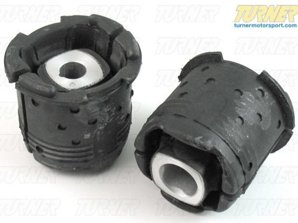 T#1045 - E9X-GPN-RSUBF - Rear Subframe Bushings/Mounts - Front Pair - Group N Race Rubber - E82, E9X - These are the factory BMW Motorsport high performance subframe bushings for the front of the rear subframe. These heavy duty rubber bushings are stiffer than the stock M3 bushings to improve handling. These bushings are great for track use - and legal for many racing series - and can also be used on a street driven car as long as ride comfort can be compromised.This item fits the following BMWs:2008-2012  E82 BMW 128i 135i2006-2011  E90 BMW 325i 325xi 328i 328xi 328i xDrive 330i 330xi 335d 335i 335xi 335i xDrive - Sedan2006-2012  E91 BMW 325xi 328i 328xi 328i xDrive - Wagon2007-2012  E92 BMW 328i 328xi 328i xDrive 335i 335is 335xi 335i xDrive - Coupe2007-2012  E93 BMW 328i 335i - Convertible - Genuine BMW - BMW