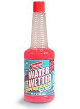 T#3607 - 1-WW-12Z - Red Line Water Wetter Heat Transfer Agent - Water Wetter is a unique wetting agent for cooling systems which reduces coolant temperatures by as much as 30F. This liquid product can be used to provide rust and corrosion protection in plain water for racing engines, which provides much better heat transfer properties than glycol-based antifreeze. Or it can be added to new or used antifreeze to improve the heat transfer of ethylene and propylene glycol systems. Designed for modern aluminum, cast iron, copper, brass, and bronze systems.  We have been using RedLine Oil in our street cars and race cars for years. Hands-down, it is the Number One brand of high performance lubricant for BMWs. - Redline -
