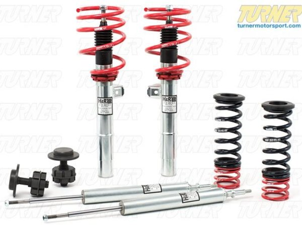"T#4327 - 29338-1 - MINI R52 H&R Street Performance Coil Over Suspension - The H&R Street Performance Coil Over kit takes the traditional shock/spring package one step further. H&R combines their progressive-rate springs with specially valved shocks and adds height adjusters that let you set the ride height to your own personal tastes. These coil overs are designed for street use with progressive rate springs that start out soft and stiffen as they are compressed. The ride on the MINI is stiff but not bone crunching while still giving better handling and balance.H&R designs each suspension to work as a coil over. This means that the correct amount of travel has been built into each shock. And the shocks are valved specifically for the spring rates to give a tight and controlled ride without being harsh or ultra-stiff. Each H&R coil over is TUV tested and approved and meets ISO quality standards. These are used with the stock strut and shock mounts for a quick and easy install.Height adjustment range:F: -1.0-2.5""R: -1.0-2.0""This coilover kit fits the following MINIs:2005-2008  R52 MINI MINI Cooper Convertible, MINI Cooper S Convertible.  - H&R - MINI"