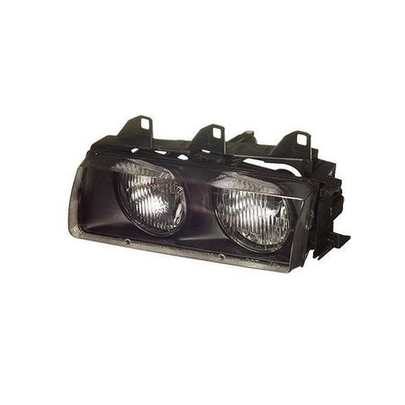 T#4676 - 63121468865 - Headlight Assembly - Left - E36 318i 325i 328i M3 - This is the left (drivers side) head light assembly for E36 3 series models. This item fits the following BMWs:1992-1998  E36 BMW 318i 318is 318ti 318ic 323is 323ic 325i 325is 325ic 328i 328is 328ic M3 - TYC - BMW