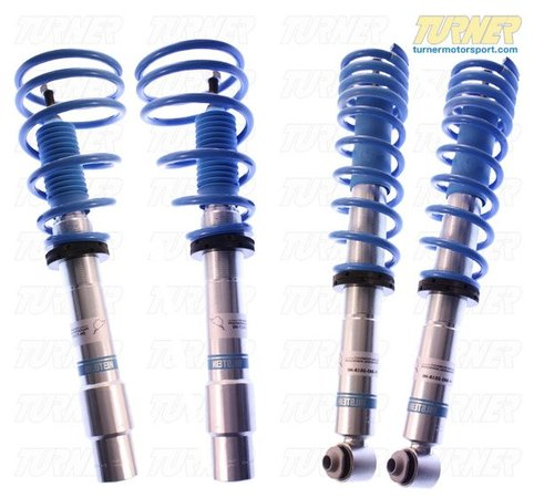 "T#12155 - HE5-B116 - Bilstein B14 PSS Coil-Over Suspension - E60 525i/528i/530i/535i/545i/550i - The Bilstein B14 PSS Suspension allows adjustable vehicle ride height without the expense of a fully adjustable damping system. This system features both coilover and standard mono-tube gas pressure shock or struts with performance level valving for application specific, progressive rate coil springs.The product benefits at a glance:Threaded body adjustable range of 20 mmLowering of approx. 30-50 mm at front and rearRoad-tested and fine-tuned by BILSTEIN ride engineers, under extreme motorsports conditionsAluminum Spring plates and lock nutsSurface coating using Triple-C-Technologyfor long-lasting corrosion resistanceRound threads for easy adjustmentQuality sport springs made from highly durable materialGas pressure technologyBILSTEIN monotube technology, made in Germanyadj. -1.0""-1.75"" / adj. -1.0""-1.75""Not for cars with EDCThis coilover kit fits the following BMWs:2004-2010  E60 BMW 525i 530i 528i 535i 545i 550i - Bilstein - BMW"
