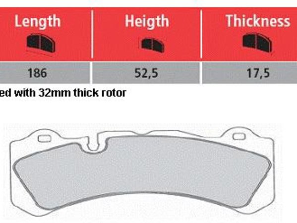 Hawk Brembo Calipers Monobloc M - Street Brake Pad Set - Hawk HPS TMS16490