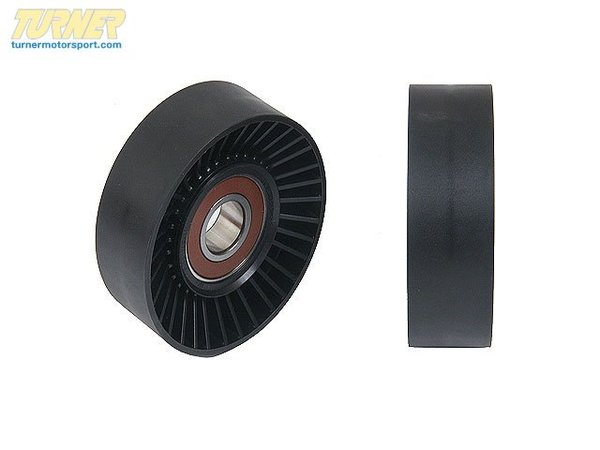 T#6738 - 11287500560 - OEM Ruville Engine Idler Pulley -- E39 E53 - This is an OEM Ruville Idler Pulley, also known as the roller pulley or deflection pulley. The idler pulleys are known to be the primary sources for 'belt squealing'. The pulley is also encased in rubber which will crack over time. If left without service the rubber could fail completely, chucking the belt and leaving you stranded. Replacement is a very simple procedure and can be done anytime the fan is off the engine (belt replacement, water pump service, alternator replacement, etc).OEM Schaeffler (INA, LuK, Ruville, & FAG) is an engineering company that focuses on high-performance, precision manufacturing. With their individual brands INA, Luk, and FAG providing exceptionally high quality parts directly to BMW, as well as countless other automotive companies, their history of reliability and variety of offered parts makes Schaeffler a go-to replacement parts provider for all of us here at Turner Motorsport.As a leading source of high performance BMW parts and accessories since 1993, we at Turner Motorsport are honored to be the go-to supplier for tens of thousands of enthusiasts the world over. With over two decades of parts, service, and racing experience under our belt, we provide only quality performance and replacement parts. All of our performance parts are those we would (and do!) install and run on our own cars, as well as replacement parts that are Genuine BMW or from OEM manufacturers. We only offer parts we know you can trust to perform!This item fits the following BMWs:BMW 5 Series - 540i, 535iBMW X Series - X5 4.6is 4.4i - Ruville - BMW