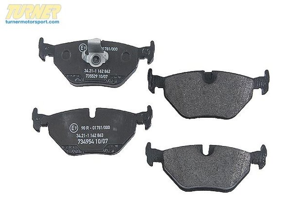 Akebono Akebono Rear Euro Ceramic Brake Pad Set -- E39 34216761281