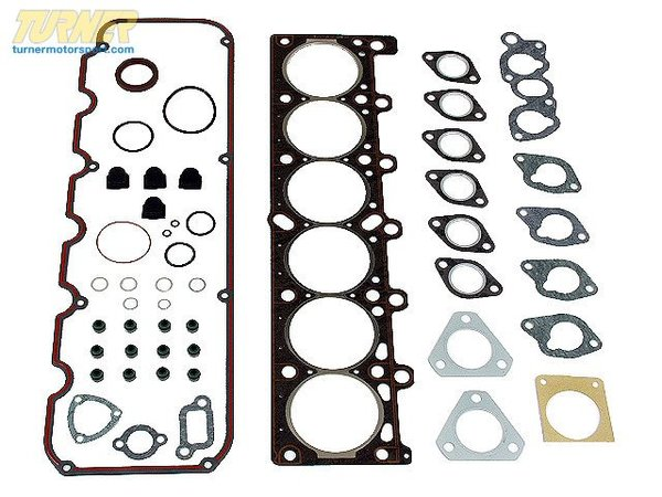T#4406 - 11129059249 - Head Gasket Set - E30 325e, E28 528e  - E30 325e E28 528e with M20 engine Head Gasket Set. Includes all the gaskets needed when rebuilding the cylinder head. Includes head gasket, valve cover gasket, valve seals, timing cover seals/gaskets, throttle body gasket, intake manifold gaskets. Note: exhaust manifold heat shields sold separately and recommended.This set of gaskets is a both a time and money saver. It includes all of the commonly replaced gaskets, seals, and o-rings when performing this overhaul. Having these on hand instead of chasing them down at the last minute will save you time, money, and frustration. With this area of the engine apart you're going to want or need to replace these items anyway to ensure it's free of fluid and vacuum leaks. This is especially important because some states have very strict emissions regulations and vacuum and oil leaks can lead to failed inspections tests. On newer cars this can also create issues in the on-board diagnostics system. Even if you're not pulling the head this set includes so many valuable parts you'll want to keep this on hand to use for spares.Contents:07119903045cold start valve o-ring07119963073coolant passage o-ring07119963130coolant passage oring07119963200gasket ring (4)11121265087camshaft cover o-ring11121285609camshaft cover seal11121722734head gasket11121726721rear camshaft cover profile gasket11121730229valve cover gasket11151714390dipstick tube o-ring (2)11331264519rocker arm shaft plug (4)11349059172valve stem seal set (set of 12)11531265084thermostat o-ring11531722692thermostat housing profile gasket11611717286cold start valve pipe profile gasket11611730743intake manifold port gasket (cyl 3-4)11611730787intake manifold port gasket (cyl 1, 2, 5, & 6)11621723877exhaust manifold port gasket,E28 528e only (6)11761711717exhaust manifold flange gasket (2)12111363190bearing cover o-ring13541271457throttle body gasketWe recommend also including exhaust manifold gaskets - available as11621728489-2.This item fits the following BMWs:1984-1988  E30 BMW 325e 325es1982-1988  E28 BMW 528e - Victor Reinz -