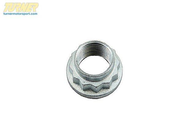 T#5045 - 33411132565 - Rear Wheel Bearing Nut  - This is the nut for the rear wheel bearing that threads onto the rear axle shaft. This item fits the following BMWs:2008+  E82 BMW 128i1992-1998  E36 BMW 318i 318is 318ic 323is 323ic 325i 325is 325ic 328i 328is 328ic1999-2005  E46 BMW 323i 323ci 325i 325ci 328i 328ci 2006+  E90 BMW 325i 328i 2006+  E91 BMW 328i 2007+  E92 BMW 328i 2003-2008  Z4 BMW Z4 2.5i Z4 3.0i Z4 3.0si  - Febi - BMW