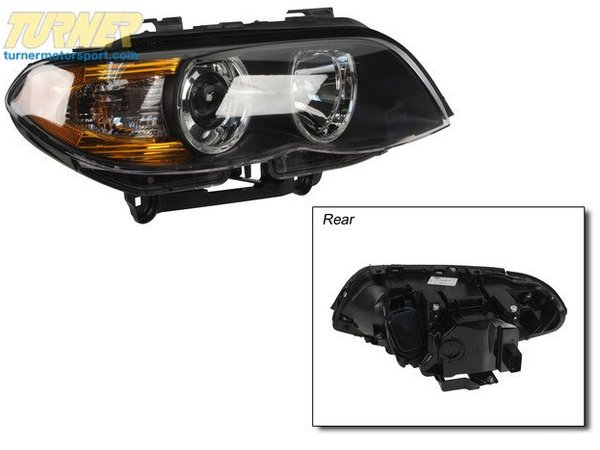T#18881 - 63117166806 - Bi-Xenon Headlight - Right - E53 X5 2004-2006 - This is the front right OEM Hella Bi-Xenon headlight assembly E53 X5.   Not for cars with adaptive headlights.  HELLA is the OEM supplier to BMW of headlight systems and their quality is second to none.This item fits the following BMWs:2004-2006  E53 BMW X5 3.0i X5 4.4i X5 4.8is - Hella - BMW