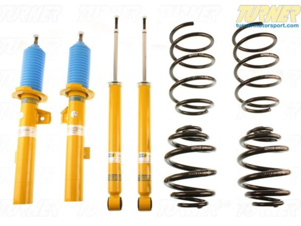 T#22142 - 46-181275 - Bilstein B12 Pro-Kit Suspension System - E89 Z4 35i - Bilstein has teamed up with Eibach to offer matched shock and spring packages. These Eibach springs are mated to a special set of Bilstein shocks to deliver a sporty and taut ride with as little impact on ride comfort as possible.The Pro Kit uses an Eibach Pro Kit spring with Bilstein's Sport shocks and struts. Instead of taking parts from different manufacturers, Bilstein has tested the performance of the Eibach spring and tailored their shocks to be a true match for the new spring rate and ride height. This is known as a matched shock and spring and very few tuning companies take these extra steps. Eibach springs tend to be softer overall than most other aftermarket springs, which ensures the ride stays close to a stock comfort while still giving you a lowered stance and improved handling.Bilstein B12 Features:Precise response and excellent driving performanceSprings and shocks road tested and fine-tuned to complement one anotherBilstein Monotube/Inverted gas pressure technologyTUV certifiedMade In GermanyAverage Lowering of 25 to 40mmMost cars don't need coil overs to improve their handling and bodyroll. For most drivers, simply replacing the shocks and springs with performance versions will meet their goals. If your shocks need replacing, and you felt the handling could be improved a little bit, this is an excellent performance suspension for you.This item fits the following BMWs:2009+  Z4 BMW Z4 sDrive35i Z4 sDrive35isNot for cars with EDC. - Bilstein - BMW
