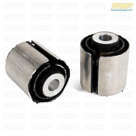 T#3094 - E9X-GPN-RCSIB - Rear Lower Link Arm Bushing - Inner - Group N Race Rubber - E82, E9X - BMW Motorsport Group N rubber race bushings to replace the inner lower camber link arm bushings. These are a stiffer rubber version of the stock bushing - eliminating deflection and twist of the spring arm. This will result in a snappier feel and quicker response in the suspension and better handling. These bushings are great for track use and legal for some racing classes yet can also be used on a street driven car where extra ride harshness can be tolerated.Sold as a pair of bushings for both sides of the vehicle.This item fits the following BMWs:2008-2012  E82 BMW 128i 135i2006-2011  E90 BMW 325i 325xi 328i 328xi 328i xDrive 330i 330xi 335d 335i 335xi 335i xDrive - Sedan2006-2012  E91 BMW 325xi 328i 328xi 328i xDrive - Wagon2007-2013  E92 BMW 328i 328xi 328i xDrive 335i 335is 335xi 335i xDrive - Coupe2007-2013  E93 BMW 328i 335i - Convertible - Genuine BMW - BMW