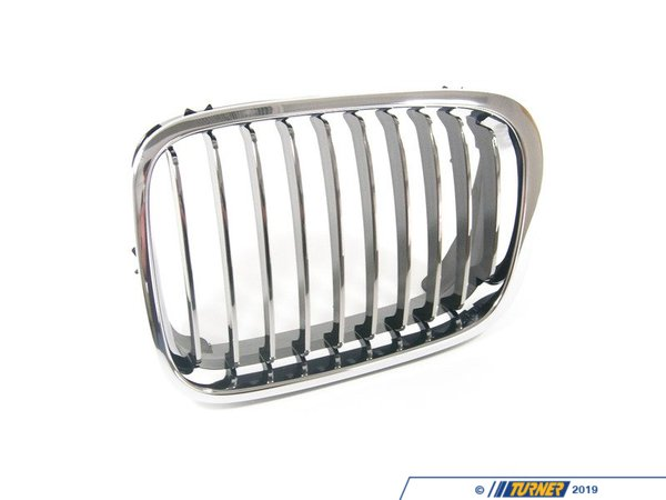 T#8786 - 51138208489 - Genuine BMW Chrome Grill - Left - E46 sedan 1999-2001 - Genuine BMW - BMW
