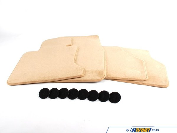 T#111669 - 51477128077 - Genuine BMW Set Of Floor Mats Velours Beige - 51477128077 - E65 - Genuine BMW -