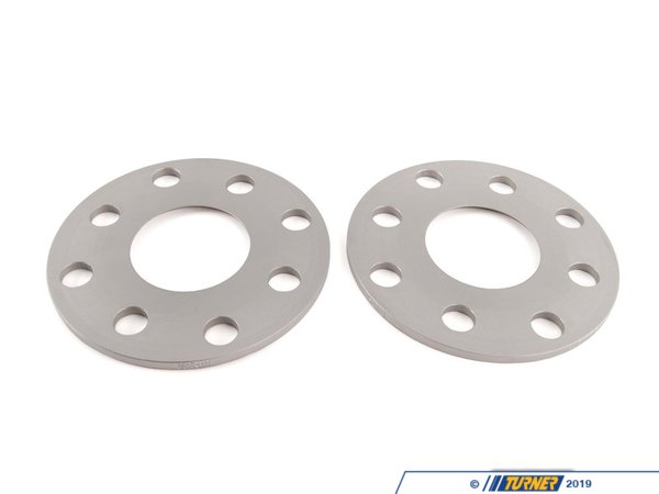 "T#3514 - 10234571 - E30 5mm H&R Wheel Spacers (Pair) - 5mm = .20""4/100 bolt pattern; 57.1 center boreDR type = spacer fits in between the wheel and the hub. Longer wheel bolts are required.Hubcentric = Yes*, the original hub lip still protrudes through the spacerH&R's 5mm wheel spacers are Made in Germany and are TUV approved. H&R manufacturers their spacers from a super lightweight aluminum/magnesium alloy for excellent strength and also to save unsprung weight. The spacers are drilled for additional lightness and easy fitment. They are then hard anodized for durability. These are not low quality universal spacers - the bolt pattern, hub sizing, and other dimensions are designed to be used on BMW models only.This spacer slips on the existing hub lip and leaves some lip left over for the wheel to rest on. This keeps the wheel hubcentric*.* - To avoid vibration, 5mm spacers work best with wheels that have a flush mounting surface. Wheels that have a bevel around the mounting surface will not be fully seated on the hub and a vibration may result.Longer wheel bolts are strongly recommended. Choose from black or silver bolts from the options below. Wheel locks to work with this spacer size are also available.Wheel Spacer FAQHow To Measure for SpacersWheel Spacer Encyclopedia - everything you wanted to knowThis item fits the following BMWs:1984-1991  E30 BMW 318i 318is 318ic 325e 325es 325i 325ic 325is - H&R - BMW"