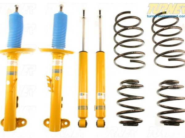 "T#21486 - TMS21486 - F10 528i/535i H&R/Bilstein Sport Suspension Package - The first step in reducing bodyroll and making this car faster through turns is to replace the shocks and springs. The lower, stiffer H&R Sport springs for the 535i will lower the ride height and manage weight transfer better than the stock suspension. We package these H&R Springs with a set of Bilstein Sport shocks for a complete upgrade in a discounted package.H&R Sport springs lower the ride height as much as 1.4"" in front and 1.3"" in the back and stiffens the spring rate. Both combine to lower the car's center of gravity and reduce the amount of bodyroll in corners. The springs are progressive rate so their initial stiffness is actually very compliant and it becomes stiffer as the spring is compressed. This is great for street cars that see bumps and potholes where suspension compliance is key. Overall, they are about 30% stiffer than the stock original springs. Lowering amount will be less if replacing the factory sport suspension.We use Bilstein Sport shocks as the dampers and they feature Bilstein's patented and innovative valving system. With this system, small bumps and impacts are absorbed as they should be. But the shocks stiffen for cornering and other suspension motions. It's the best of both worlds as the shock self-adjusts based on suspension motion. These fit with the stock strut and shock mounts, making for an easy and clean install.Parts list:1 set - H&R Sport Springs (28947-1)1 - Bilstein Left Front Sport shock (24-178501)1 - Bilstein Right Front Sport shock (24-178518)1 pair - Bilstein Rear Sport Shocks (24-178525)Fitment note: not for cars with self-leveling or EDC suspension.This item fits the following BMWs:2011+  F10 BMW 528i 535i - Turner Motorsport - BMW"