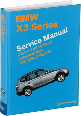 T#211231 - TMS211231 - Bentley Service & Repair Manual - E83 X3 BMW (2004-2010) - The most comprehensive service manual available for your 2004-2010 X3 sport activity vehicle (SAV) there is. Hardcover, 1040 pages and over 1884 photos, illustrations and diagrams. Covers all model E83 chassis X3 including 2004, 2005, 2006, 2007, 2008, 2009, 2010 - X3 2.5i, 3.0i, 3.0si, xDrive3.0i Models and engines:2.5i M54 engine, 6-cylinder 2.5 liter3.0i M54 engine, 6-cylinder 3.0 liter3.0i N52 engine, 6-cylinder 3.0 literTransmissions (remove, install, external service):Manual ZF GS6-37BZ (6-speed)Automatic GM A5S390R (5-speed)Automatic GM GA6L45R (6-speed)Features:Maintenance procedures from changing the xDrive fluids to replacing the cabin microfilter. This manual tells you what to do and how and when to do it.Manual and automatic transmission fluid service, front and rear differential service, including xDrive transfer case troubleshooting.Step-by-step variable camshaft timing (VANOS) service.Cylinder head cover gasket and crankshaft seal replacement.Cooling system, thermostat and radiator service, including system bleeding using the electric coolant pump on N52 engines.Fuel injection and ignition system diagrams and explanations.Information on advanced technical features such as VANOS, Valvetronic, xDrive, and DSC (dynamic stability control).Suspension repair procedures.Brakes, steering and ABS troubleshooting and repair.Heating and air-conditioning repair, including A/C component replacement.Body and hood repairs and adjustments.Electrical system service, with an easy-to-use illustrated component locator section.Comprehensive wiring schematics, including fuses and grounds.BMW OBD II diagnostic trouble codes, SAE-defined OBD II P-codes, as well as basic scan tool operation.BMW factory tolerances, wear limits, adjustments and tightening torques.This item fits the following BMWs:2004-2010  E83 BMW X3 2.5i X3 3.0i X3 3.0si - Bentley - BMW
