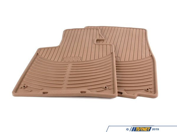 T#24949 - 82550151503 - Genuine BMW Set Rubber Mats Front Beige Z4 - 82550151503 - E85 - Genuine BMW -