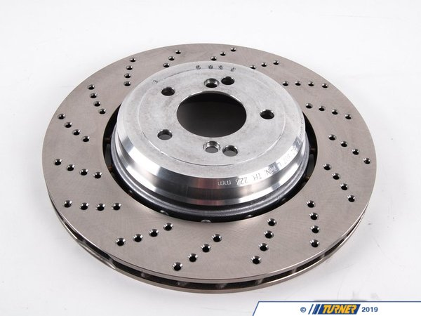 T#2534 - 34212282807 - Rear Left Brake Rotor - E60 M5 and E63 M6 - Genuine BMW -